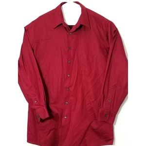Van Heusen Mens Long Sleeve Button Front Shirt